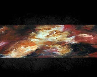 Abstract painting clouds