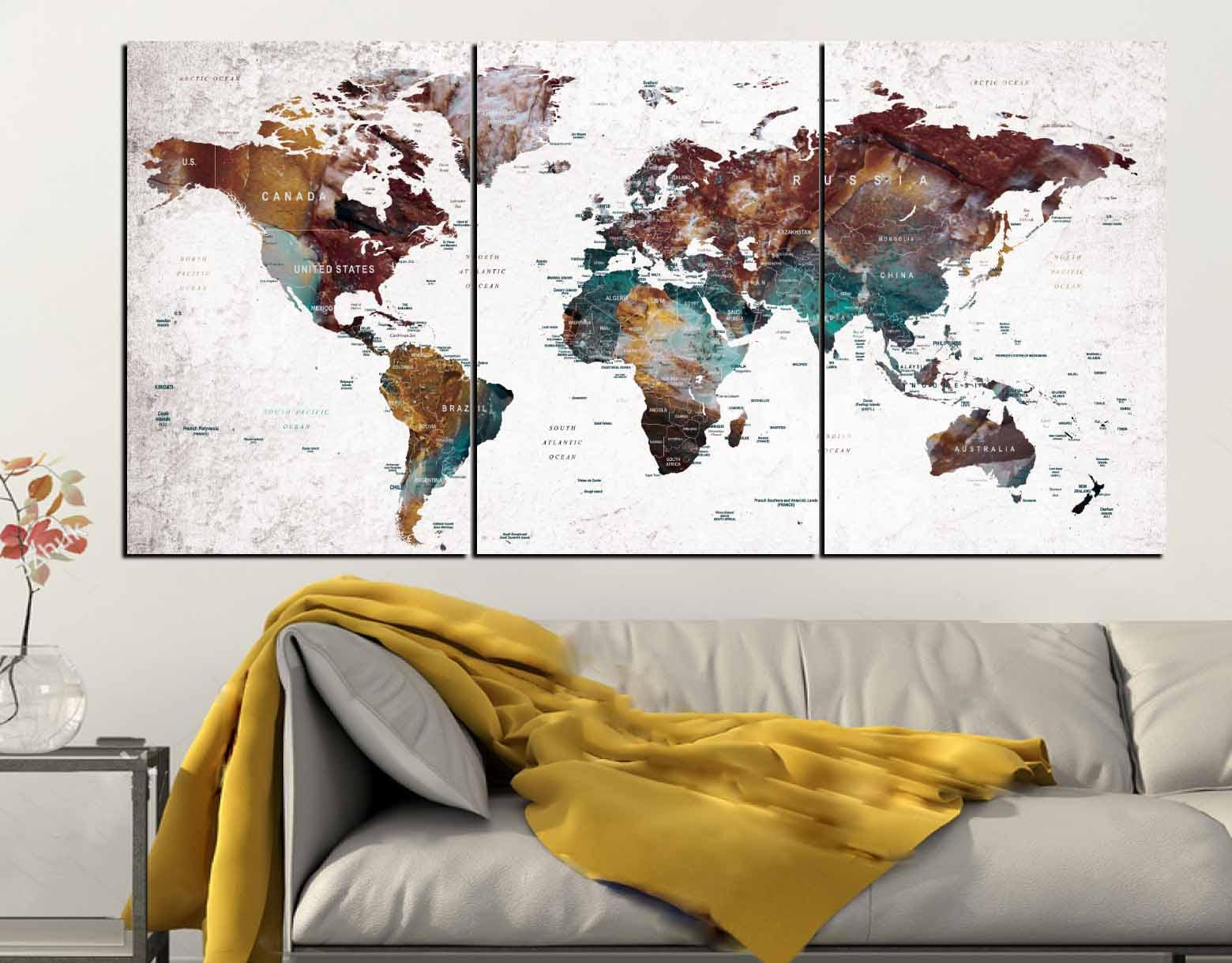 World map push pin wall art canvas panelsworld map wall artworld world map push pin wall art canvas panelsworld map wall artworld map canvasworld map artabstract world map artworld map travelmap art gumiabroncs Image collections