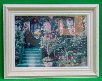 1992 Small Framed Photo Of Monet Art, Signed By The Photographer