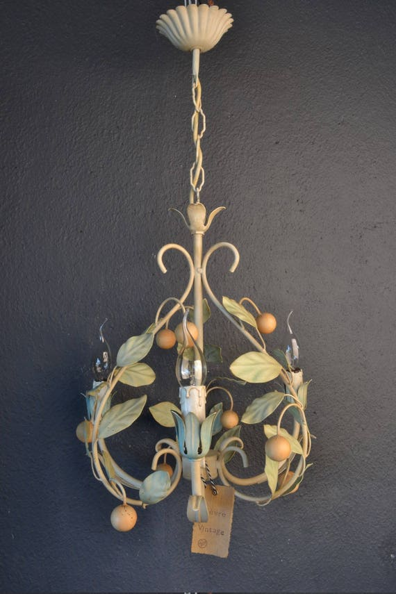 Beautiful toleware chandelier with spheres