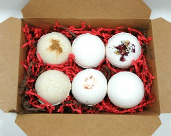 Natural bathbombs with essential oils,Bathbombs gift set,Bath lover gift,Christmas gift for her,Birthday gift for her,Large bathbombs