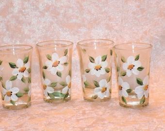 DAISY SHOT GLASSES, set of four