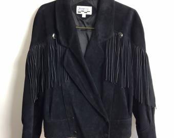 Suede Fringe & Concho Jacket