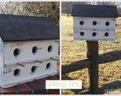 Birdhouse / 2 tier birdhouse/ farmhouse  / distressed rustic  / outdoor decor