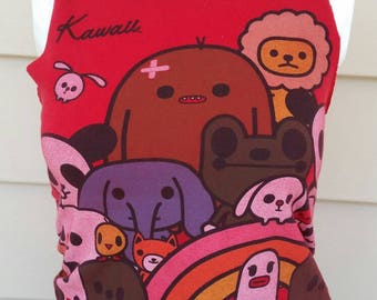 Kawaii Japanese Cartoon Cute Animal Tank Top in Red