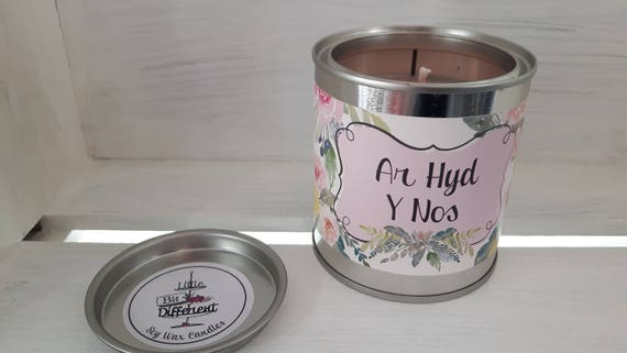 Ar Hyd Y Nos candle.  peony, jasmine and vanilla candle. Vegan candle. Welsh candle.  Soy candle.  Mothers Day.  Handmade in Wales, UK