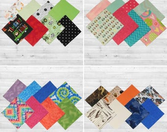 Baby & Toddler Quilt or Baby Rag or Patchwork Quilt top 48-6.5 inch Charm Pack
