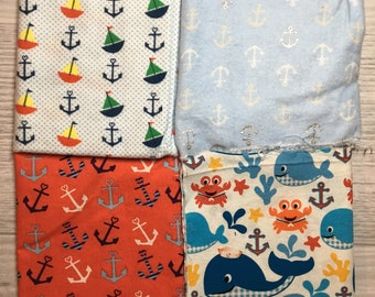 Nautical Theme Fabric Pack - Cotton Woven and Flannel
