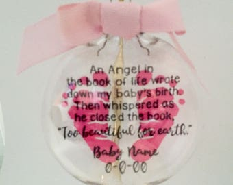 "An Angel ... ""Too beautiful for earth."" Ornament, Baby, Memory, Book of Life,"