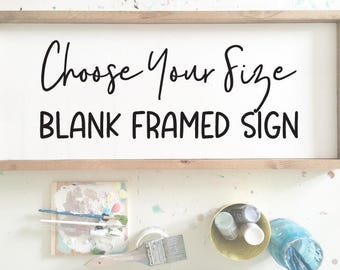 BLANK sign, Create your own framed sign, DIY wood sign, Paint your own wood sign, Wood Canvas, Art Supplies, Blank Wood Sign