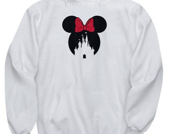 Magic Castle Mouse Hoodie Gift Red Bow Love Fan Fanatic Magical Sweatshirt