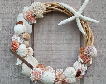 Seashell Wreath 12.5-13 inches