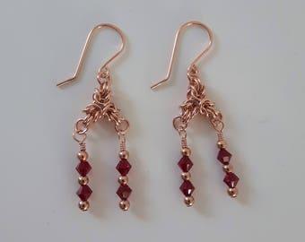 Crystal Red Earrings
