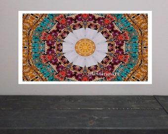 Mosaic Tile Giclee art print pinwheel art Modern abstract wall art Print Home Decor art Wall Decor Art Print