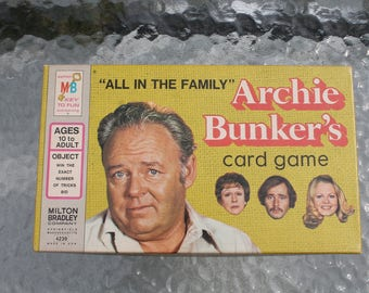 All in the Family Archie Bunker's Card Game from Milton Bradley - 1972