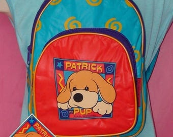 90's FAO Schwarz Patrick The Pup Mini Backpack!