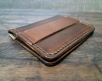 Money Strap wallet Horween Chromexcel leather - Brown
