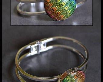 Round Rainbow polymer bracelet