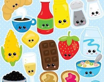 80% OFF SALE Food clipart commercial use, Kawaii Food clipart vector graphics, Perfect pairs digital clip art, chocolate clipart - CL992