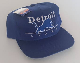 Vintage Detroit Lions Eastport Deadstock Snapback Hat NFL VTG