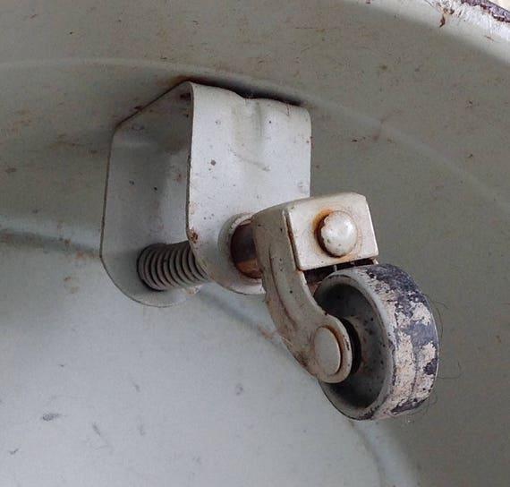 Vintage Industrial Step Stool Kik Cramer Beige Kick