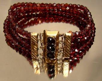 19th Century Dutch Red Glass Bracelet 14k Clasp