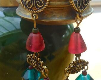 My heart earrings dangles.  Unique creation. WELL! MAPERLE