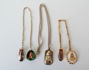 Religious Lot #8, Christian, Catholic Jewelry, Necklace, Chain with Clip