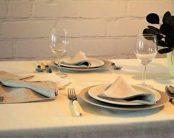 Linen Tablecloth, Pure linen tablecloth, Rustic tablecloth, Wedding tablecloth, Linen