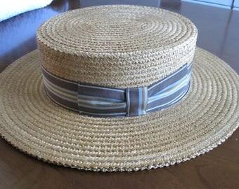 MANS BOATER STRAW Hat