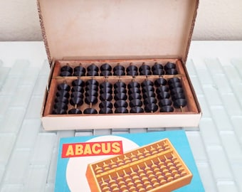 Wood Abacus Calculator Adding Japan - Original Box w/ instructions