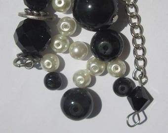 16 pearls and bicone glass (PV25-21)