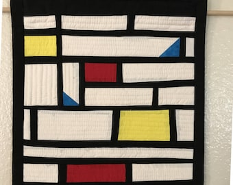Mondrian Inspired Quilted Wall Art