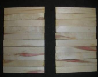 20 Red  BOX ELDER  Turning Wood Pen  Razor Blanks # BE4