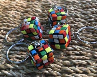Rubik's Cube on Keychain