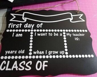 Back To School Chalkboard .SVG file- download only