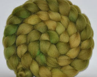 Blue Face Leicester   Hand Painted Roving  5.27 ounces -  The Mossy Hill  combed top