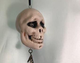 Skull Ornament, Sugar Skull Ornament, Skull Art Ornament,. Skull Sun Catcher