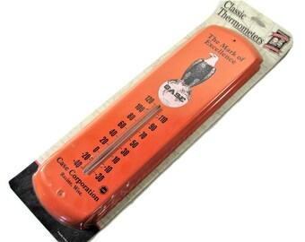 Case Tractor Thermometer Orange NIP Eagle Metal Advertising