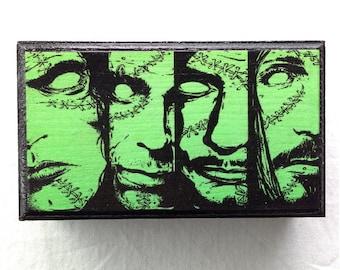 Type O Negative - Wood Coffin Keepsake Trinket Jewelry Smoke Stash Box - Peter Steele