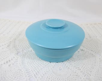 Turquoise Stoneware Covered Serving Dish, Casserole Dish
