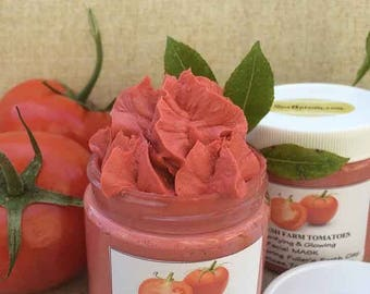 TOMATO Clarifying, Glowing,Cleansing MASK Handmade by SPA Uptown-Fullers earth clay