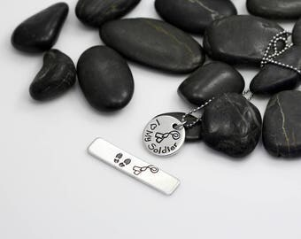 I Love My Soilder Hand Stamped | Custom | Necklace