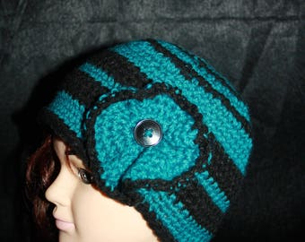 simple blue and Black Hat