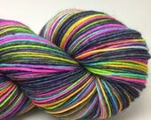 RESERVED MARY ANN Self striping sock yarn- Blue Jeans and tie dyed T-shirts colorway