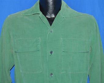 40s Mark Twain Green Corduroy Shirt Jacket Small