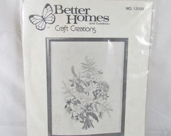 Blossom Time Crewel Embroidery Kit New Floral Bouquet 12 x 16