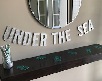 Under the Sea Party, under the Sea Banner, Mermaid Party, Mermaid Theme, Mermaid Birthday, Mermaid Decor, Under the Sea Birthday
