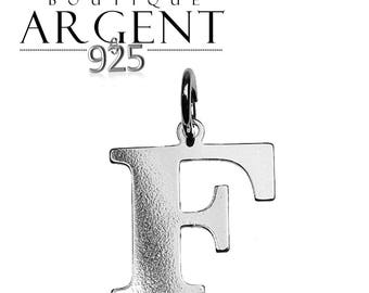Charm letter F initial 925 sterling silver initials
