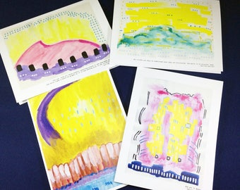 Galileo Quotes Abstract Art Cards